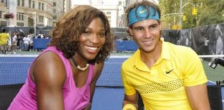 Rafael Nadal and Serena