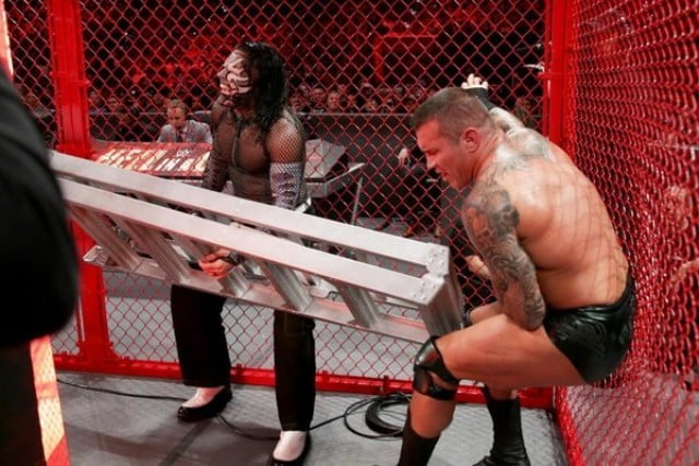 randy vs jeff - Hell In A Cell Moments