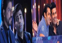 salman & sharukh in karan show