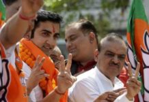 gautam gambhir organize an election rally without permission.