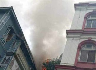 होटल ताज के पास लगी आग 1 की मौत और 2 घायल