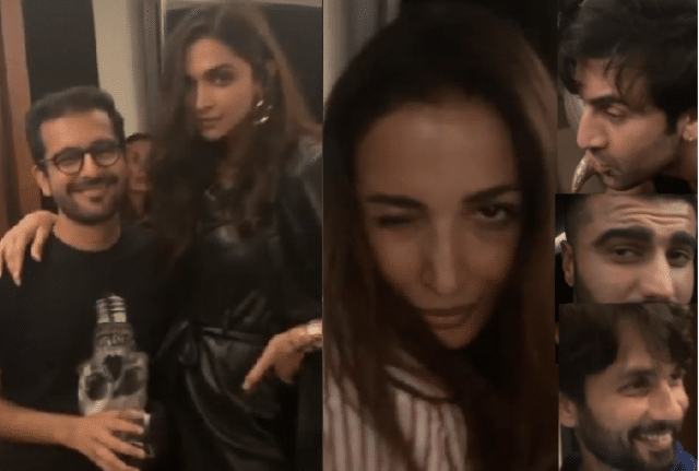 Bollywood celebrities taking Alkohole in karan johar party