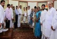कांग्रेस और एनसीपी के नेताओं ने राज्यपाल भगत सिंह कोश्यारी से मुलाकात की