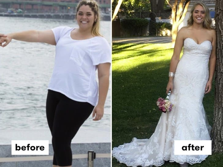 This women loss wait before and after weight loss