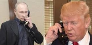 Trump and Putin discuss on Covid-19 global issues via phone call