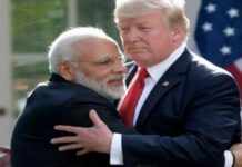 Modi scared by Trump