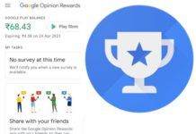 Earn money from google opinion rewards