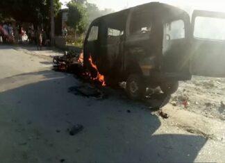 हिंदुओं की बाइक रैली पर हमला