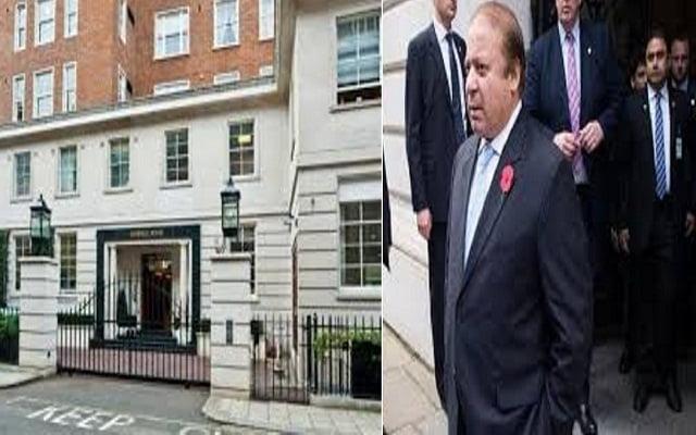 Protesters shouted slogans outside Nawaz Sharif's London