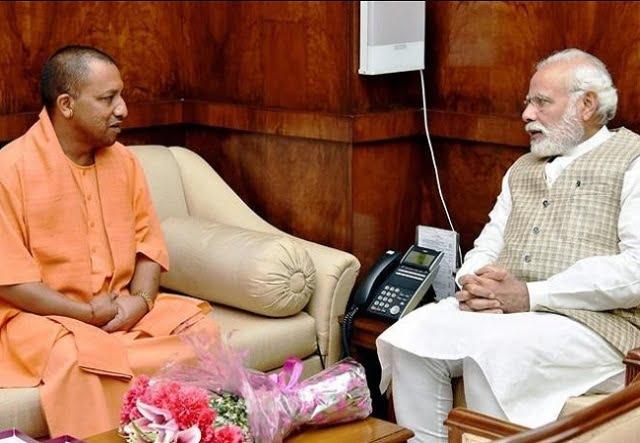 PM Modi talks to CM Yogi