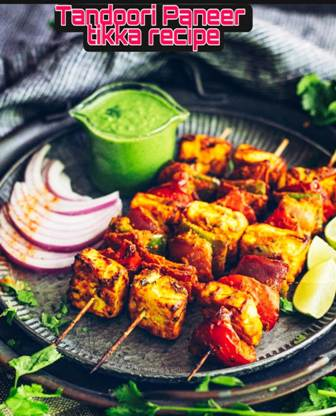 Standard recipe for tandoori paneer tikka in hindi