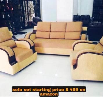 sofa set starting price 8 499 on amazon